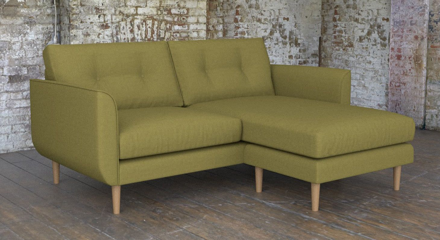 Sofas And Stuff Ronaldsay Buy Euston Right Hand Fabric Lounger In Woodstock Fennel Brown