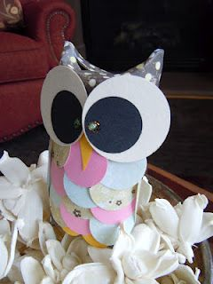 Adorable paper punched and pieced owl box!  Love it!