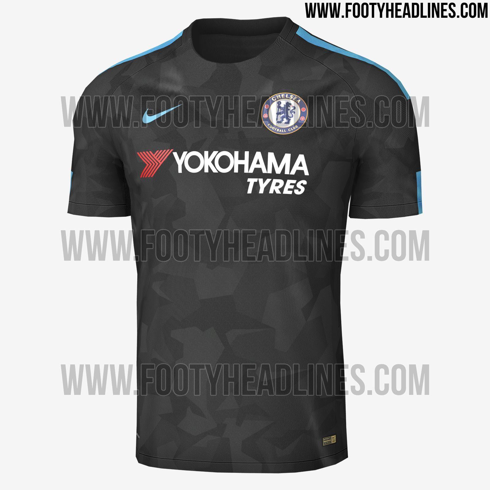 Exclusive: Nike Chelsea 17-18 Third Kit Leaked - Footy Headlines