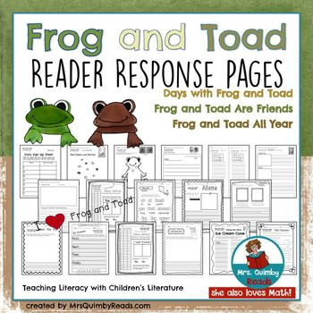 Reader Response Pages And Writing Prompts For Frog And Toad Grades K 1 Reading Response Graphic Organizers Book Response Book Talk