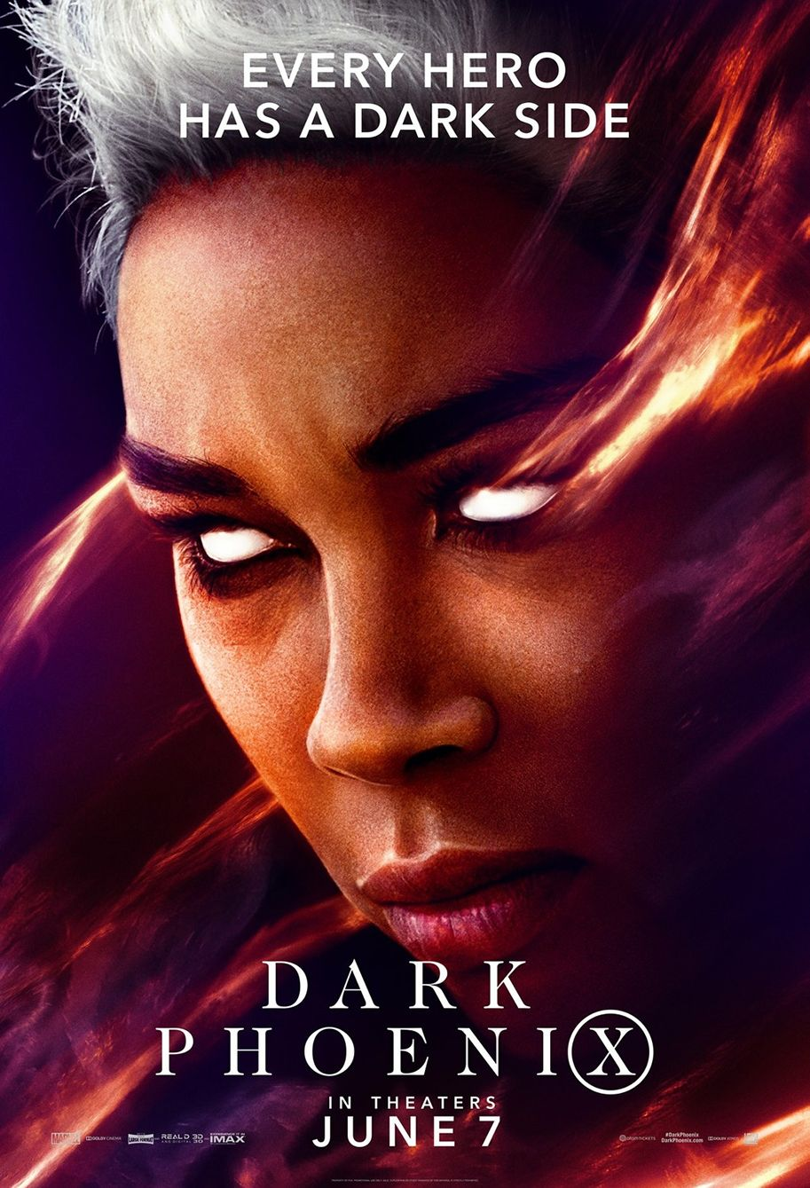 Every Hero Has A Dark Side In New Dark Phoenix Character Posters Dark Phoenix X Men Alexandra Shipp