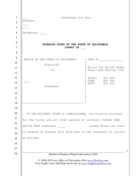Motion To Dismiss Case CA PC Documents And Forms Legal - California legal documents