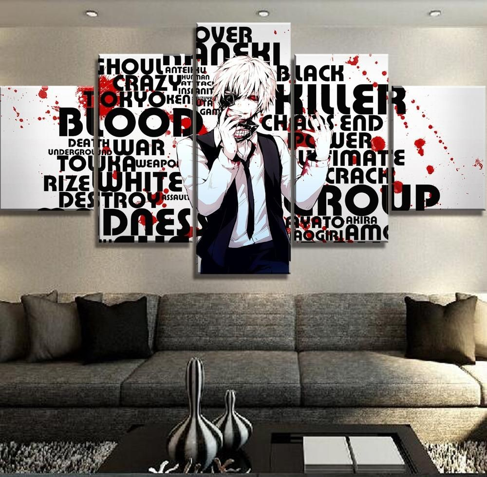 Tokyo Ghoul Anime Canvas Set Anime Canvas Anime Wall Art Poster Wall Art
