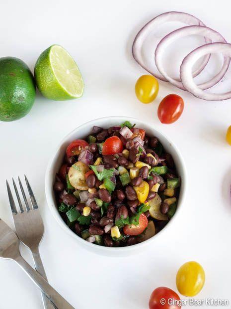 black bean salad | ginger bear kitchen