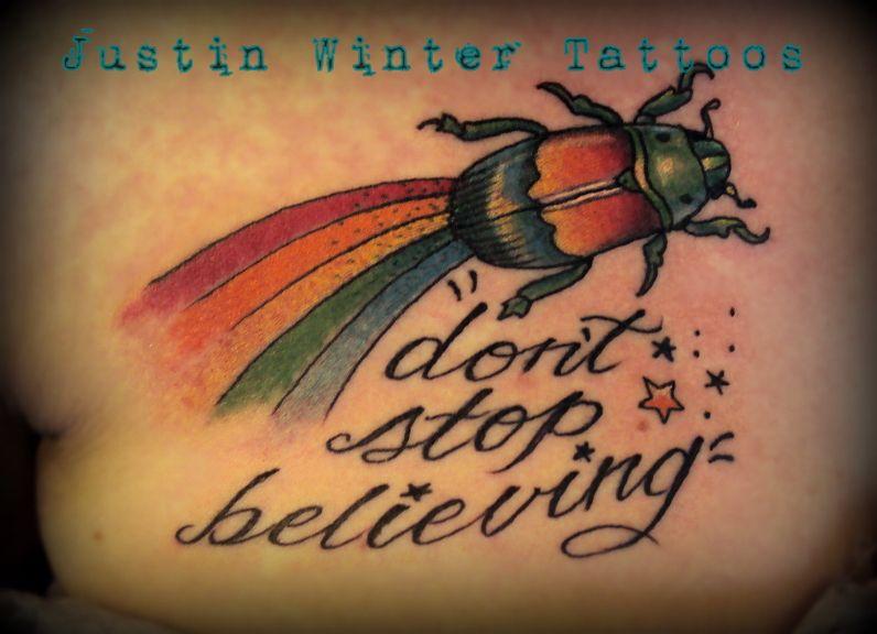Rainbow Beetle Tattoo by Justin Winter Tacoma, Wa