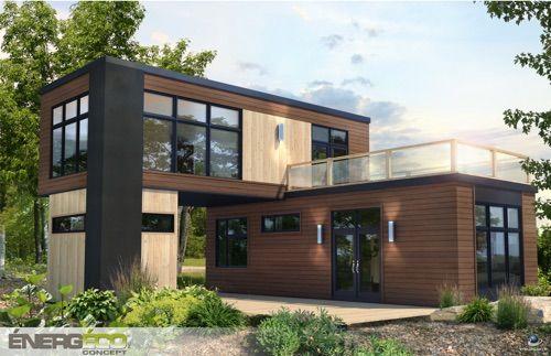 Maisons modulaires pr fabriqu es nerg tiques nerg co maison sucr e maison in 2019 - Maison prefab ...