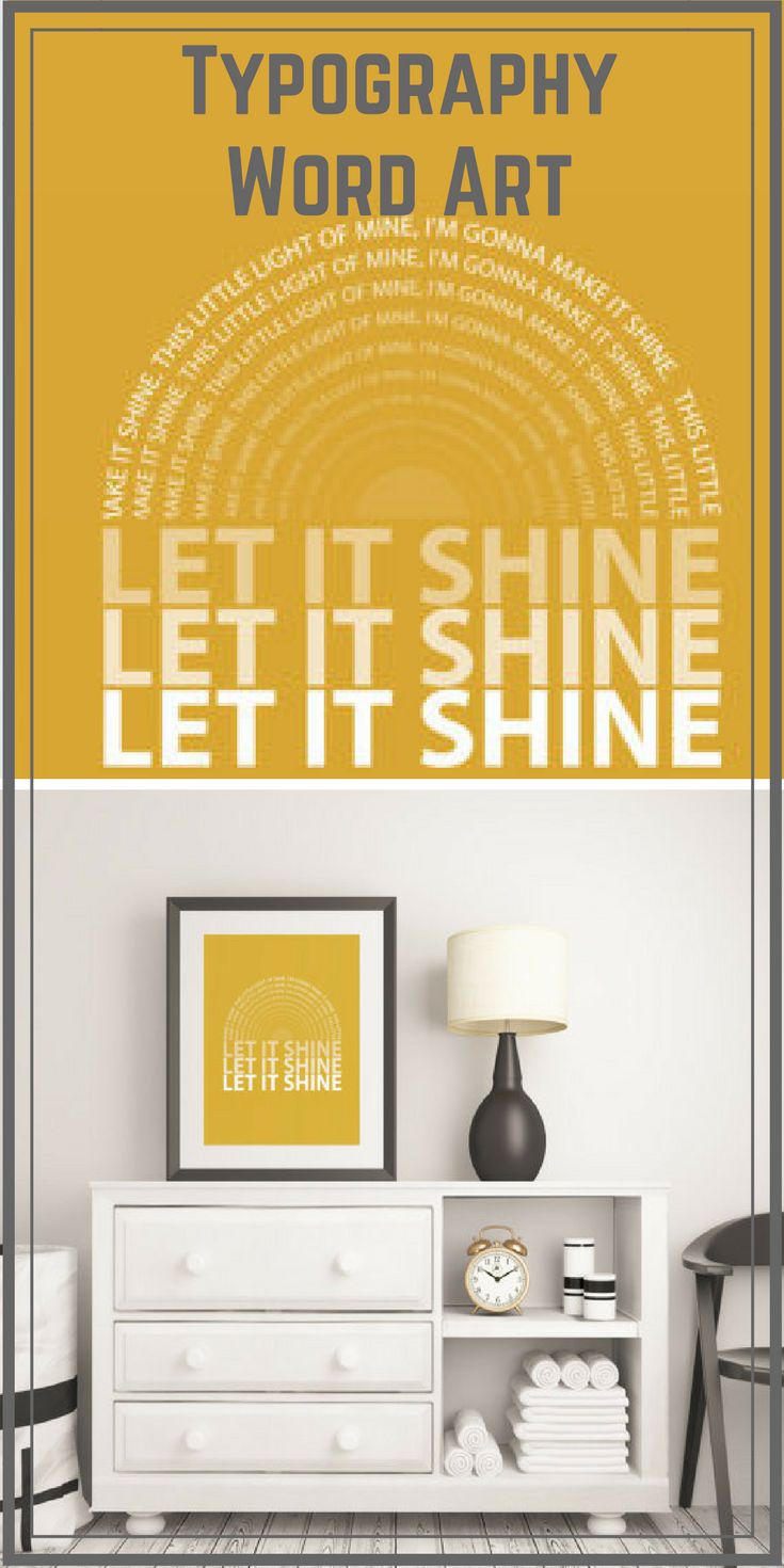 Typography Word Art | Wall Decor | Quote | Nursery Decor | Playroom ...