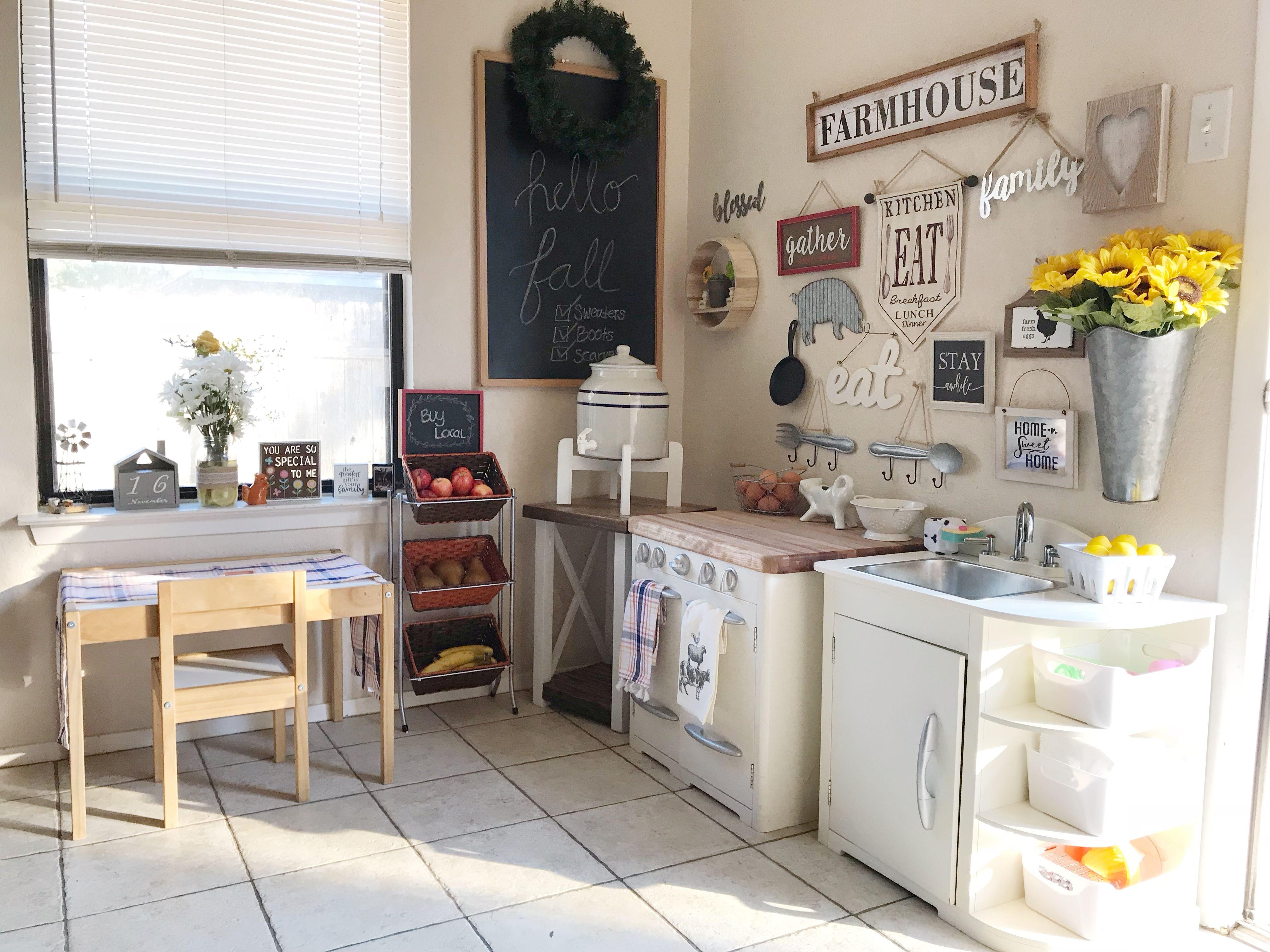 Montessori Kitchen Space Kitchen Montessori Montessori Home Kids Farmhouse Fa Pottery Barn Kids Play Kitchen Pottery Barn Kid Kitchen Pottery Barn Kitchen