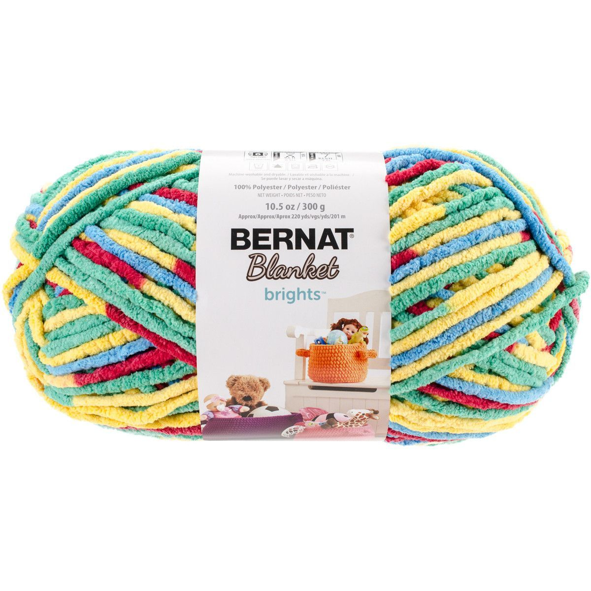 Bernat® Blanket Brights Big Ball Yarn Rainbow Shine