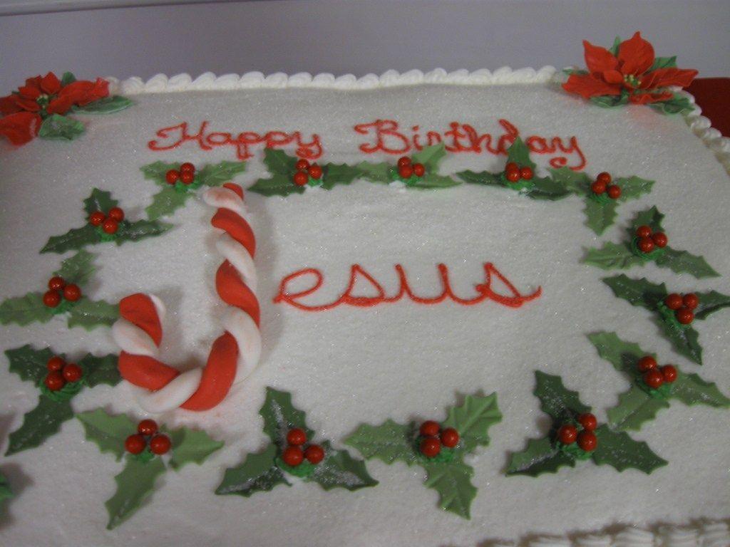 happy birthday jesus cookie cake