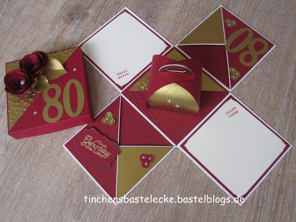 Explosionsbox 80 Geburtstag Rot 3 Nahen Gesch