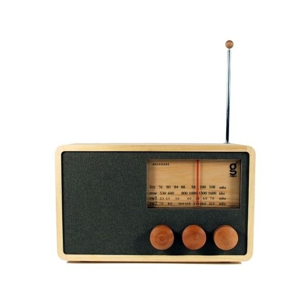 Areaware + Magno Large Radio (4.006.500 IDR) ❤ liked on Polyvore featuring fillers, music, objects, decor and electronics
