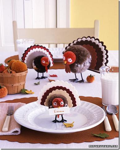 What Kid Wouldnt Want To Sit With These Darling Felt Pom Pom Turkeys By Martha Stewart
