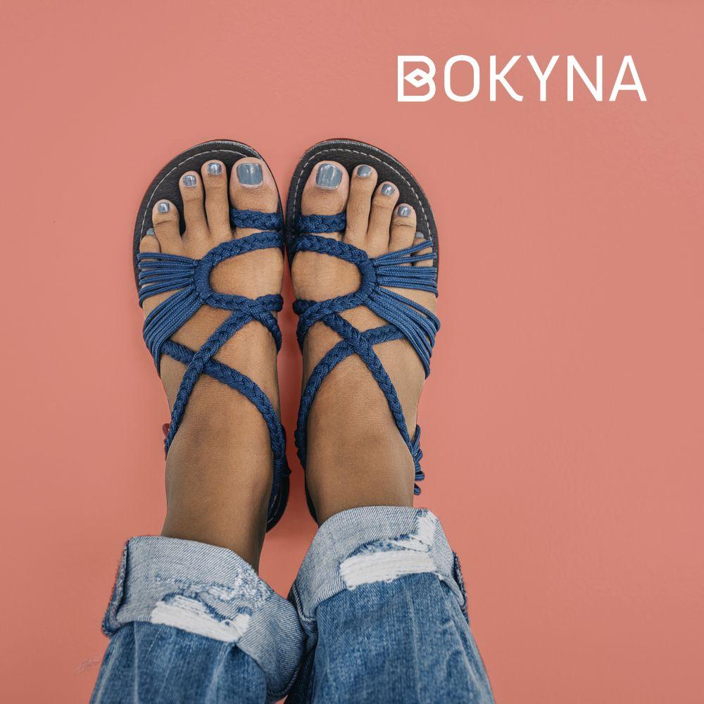 BOKYNA Sommer Damen Sandalen, Sommerschuhe, Flip Flops