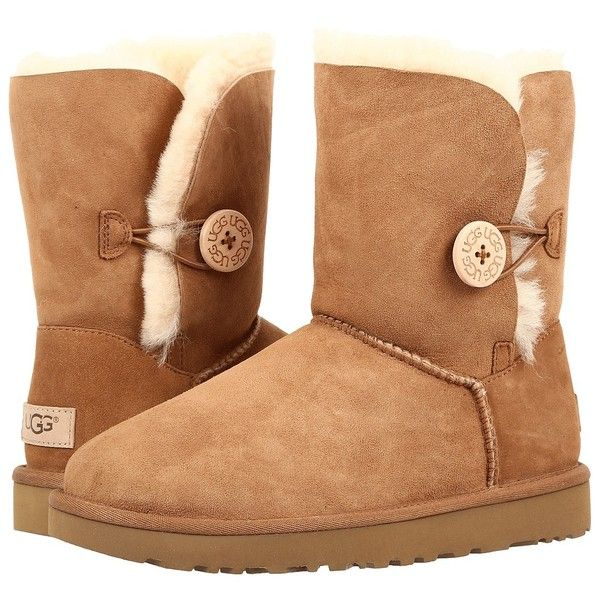 0274acb918e UGG Bailey Button II (Chestnut) Womens Boots ($170) ❤ liked on ...