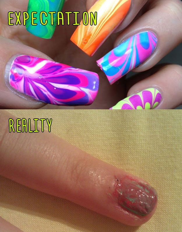 Marbled Manicure 2. | Pinterest fails, Memes and Humor