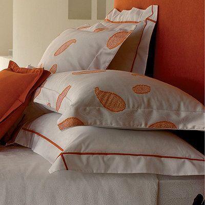 Yves Delorme Sudare Safran Sham Frontgate Yves Delorme Bedding Bed Ensemble Bed