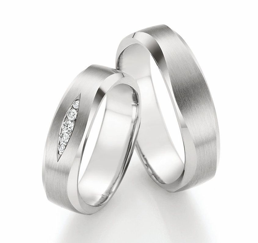 Quadratische Weissgold Eheringe P49010 Dj 结婚对戒 Pinterest Ring