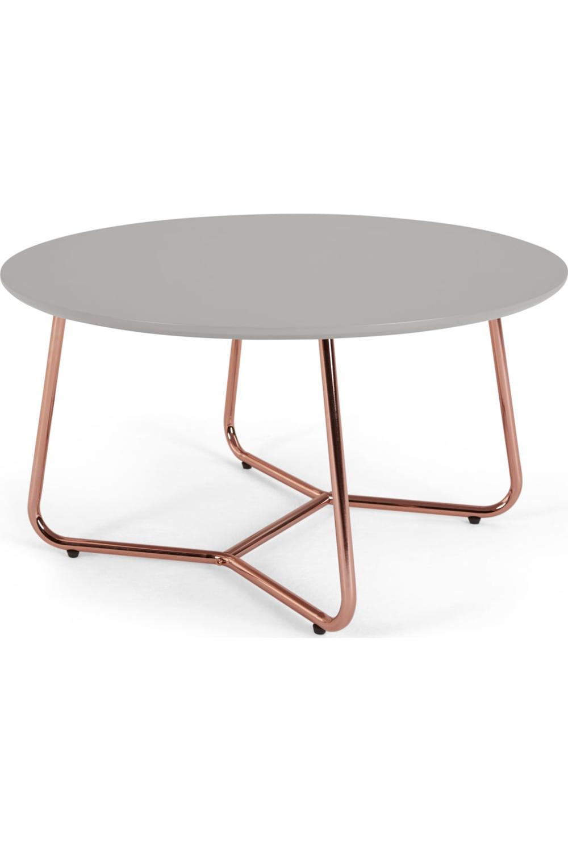 Nyla Table Basse Gris Et Cuivre Copper Coffee Table Table Coffee Table Grey