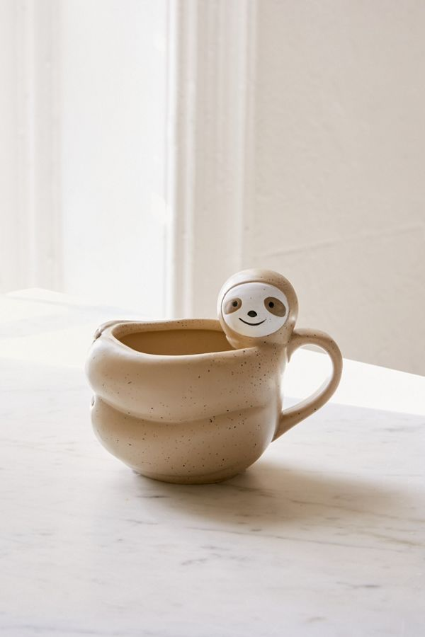 Sloth-Shaped Mug #ceramicmugs