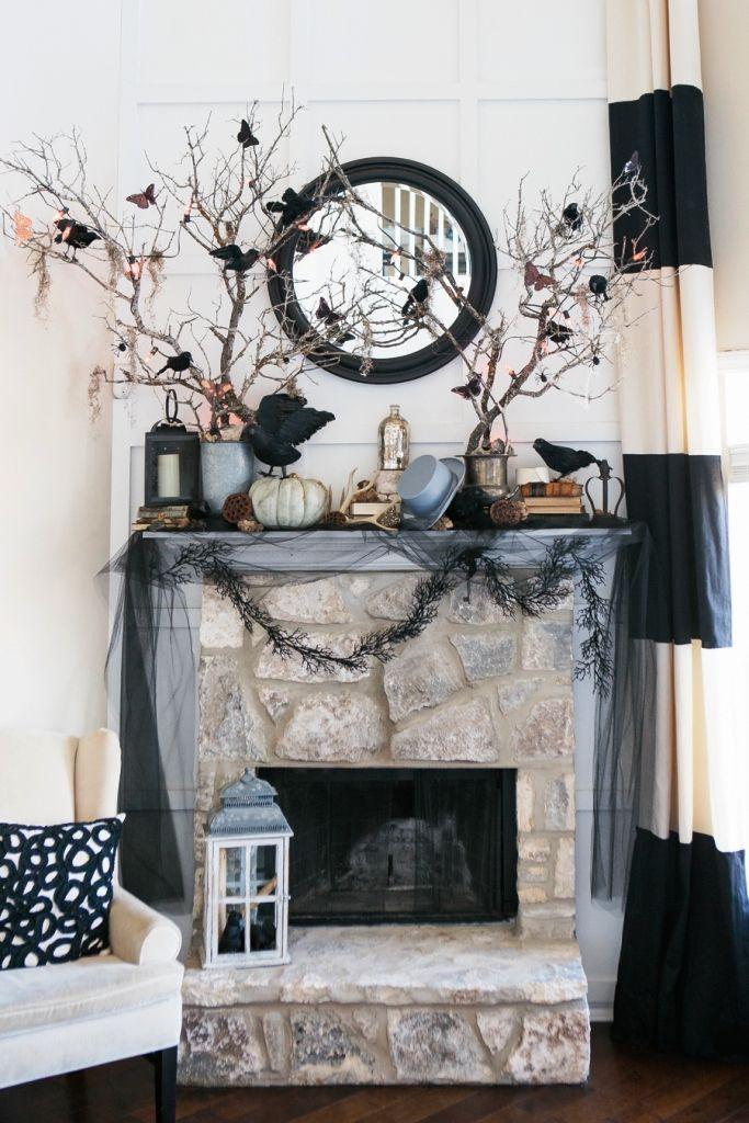 70 Great Halloween Mantel Decorating Ideas Halloween decor Pinterest - classy halloween decor