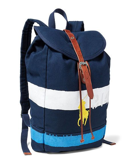 Striped Canvas Backpack - Polo Ralph Lauren Backpacks - RalphLauren ... c0f1076671e2b