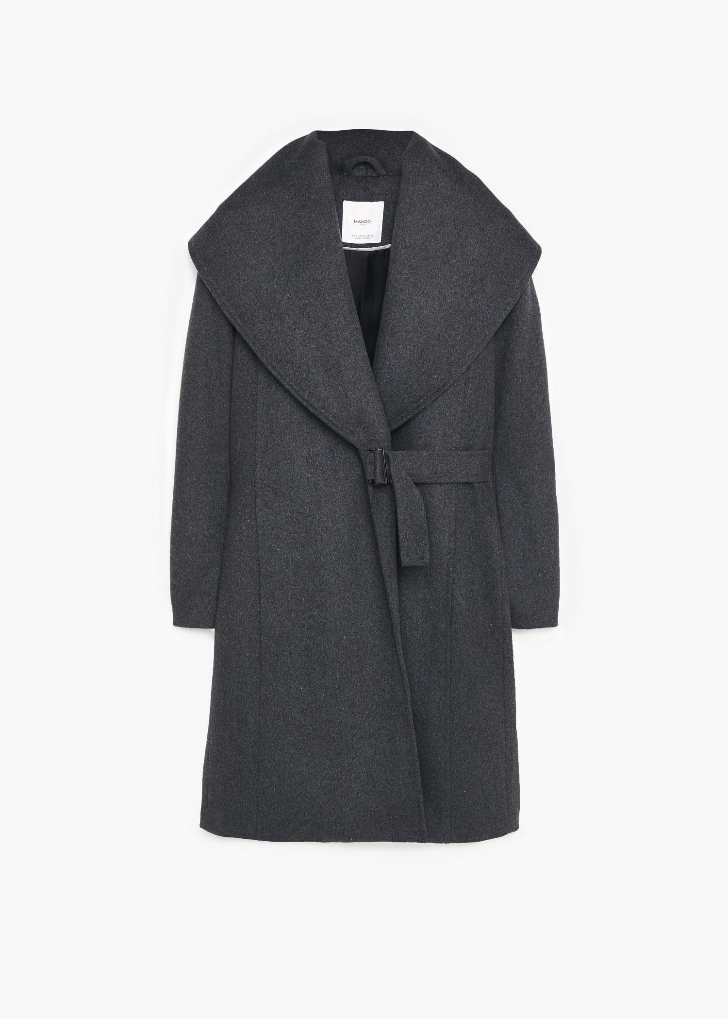 d2ec43fe6f4 Abrigo lana solapas - Mujer | My Polyvore Finds | Wool coat, Coat ...
