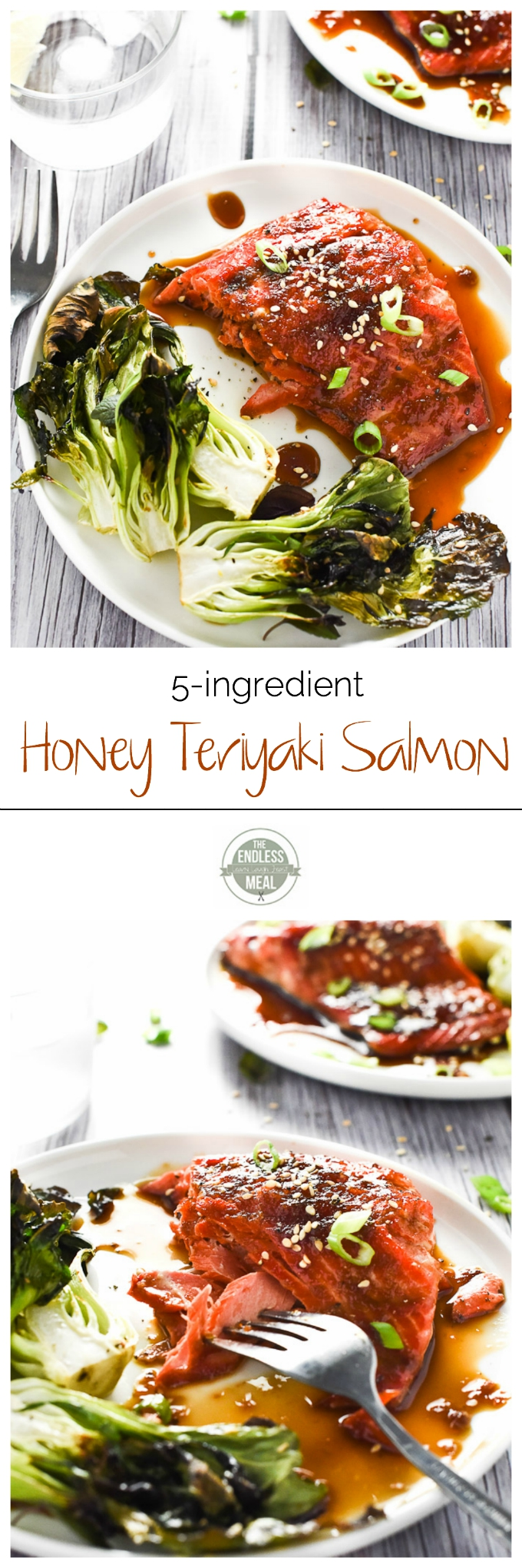 Honey Teriyaki Salmon #teriyakisalmon 5-Ingredient Honey Teriyaki Salmon #teriyakisalmon