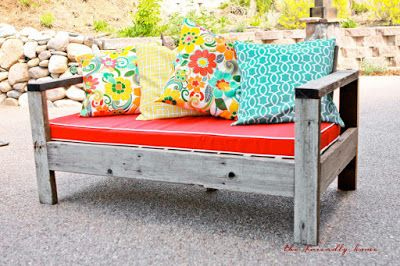 {backyard redo} Reclaimed wood outdoor sofas