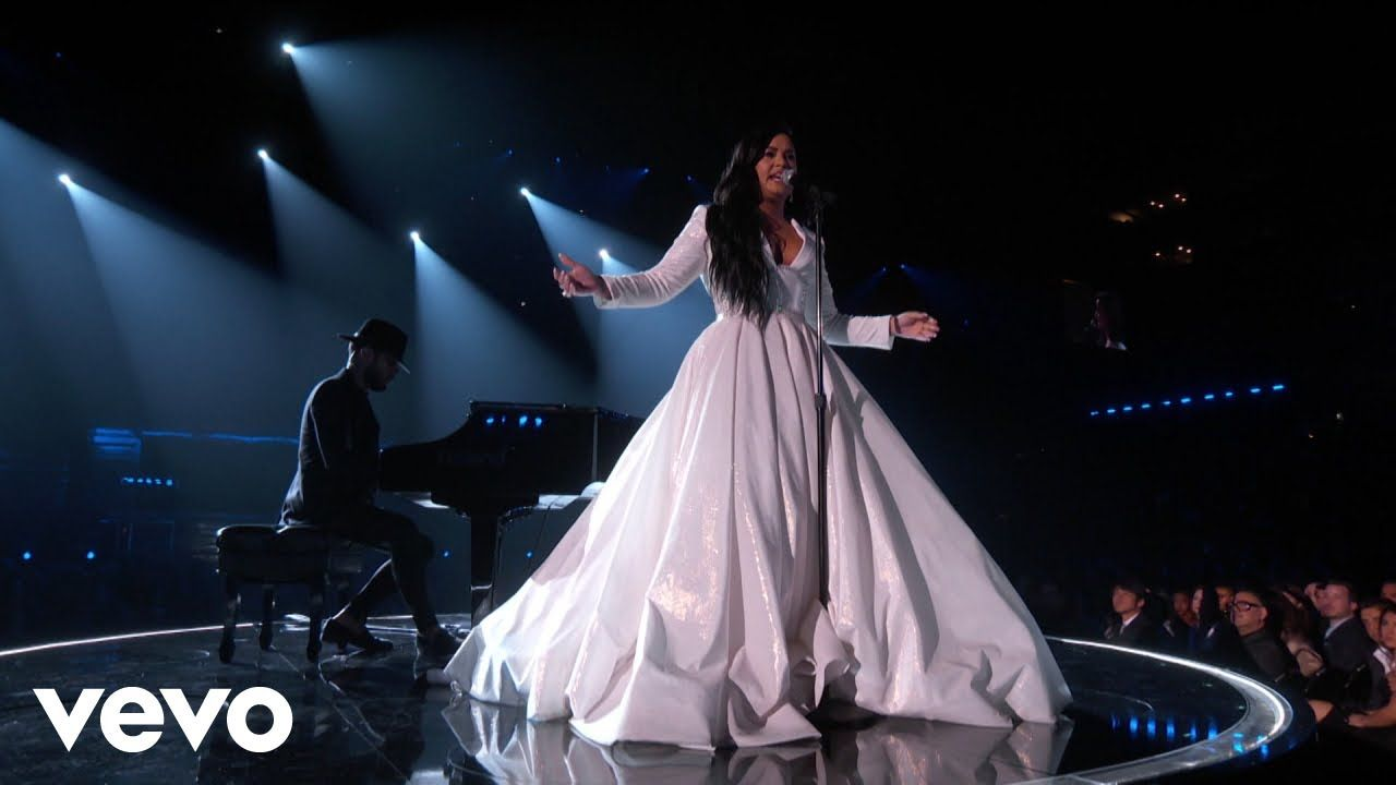 demi lovato anyone live from the 62nd grammys 2020 in 2020 demi lovato lovato grammy pinterest