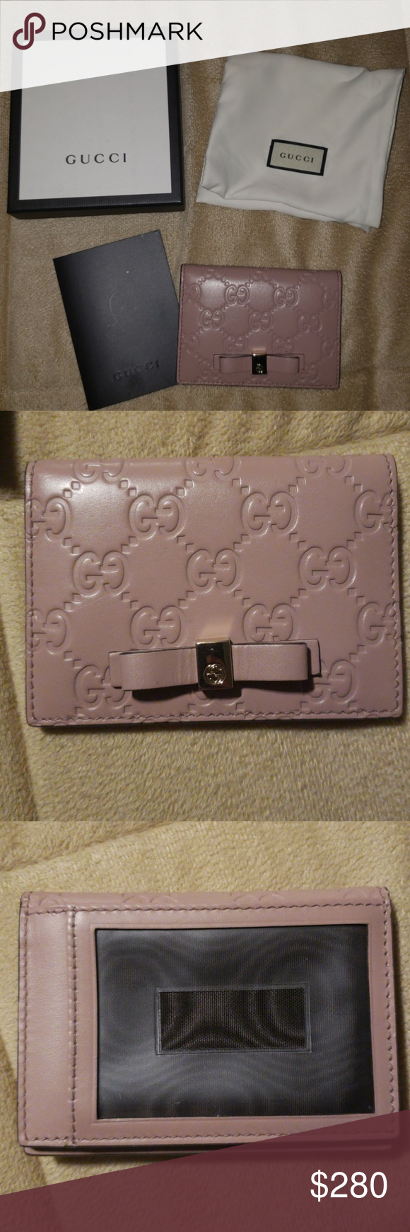 Gucci Bow Card Case Discontinued Model Card Case In