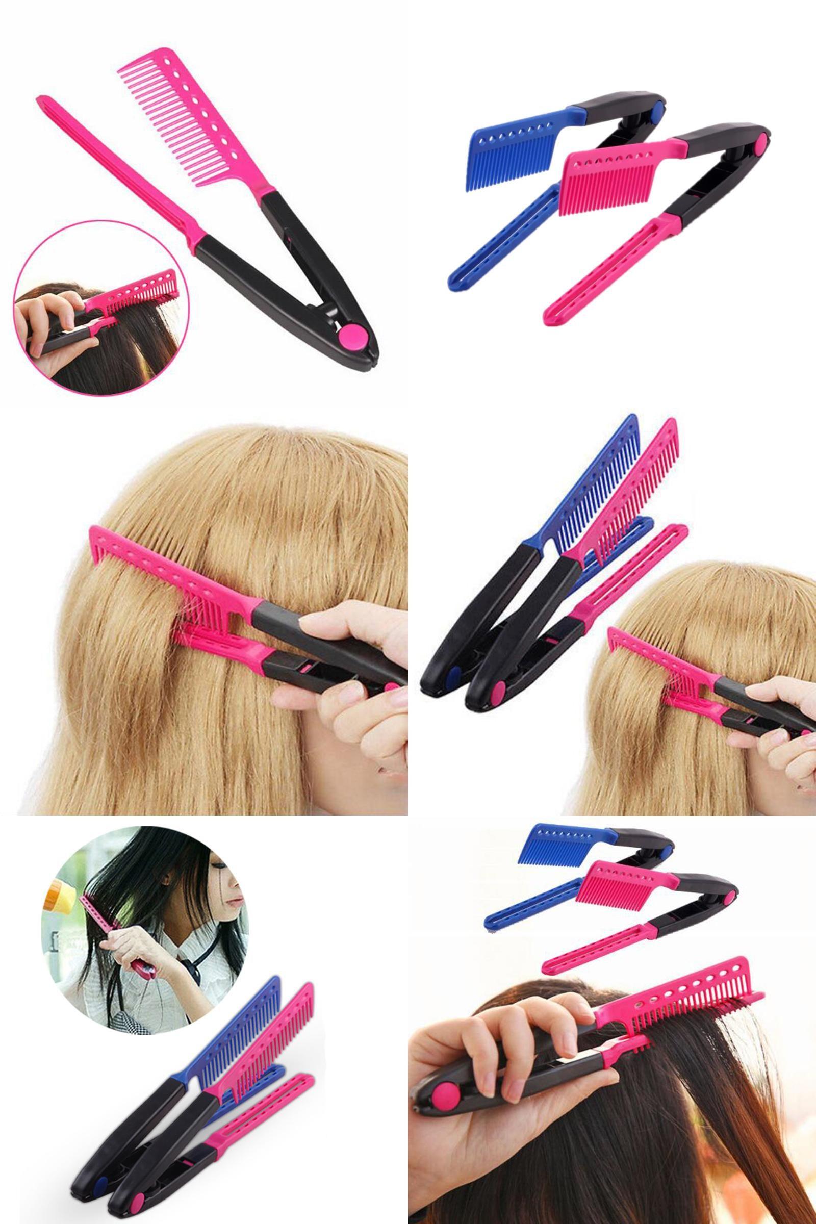 Visit to buy beauty v type hair straightener comb diy hairdressing