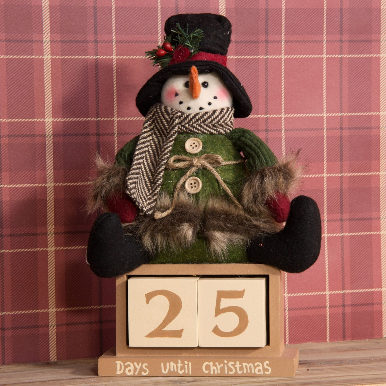 Snowman Countdown To Christmas Perpetual Calendar