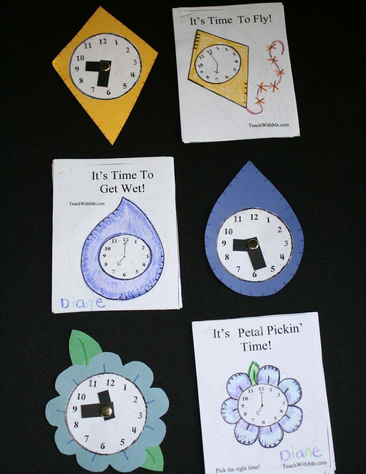 Mini Telling Time Booklets With Matching Clocks