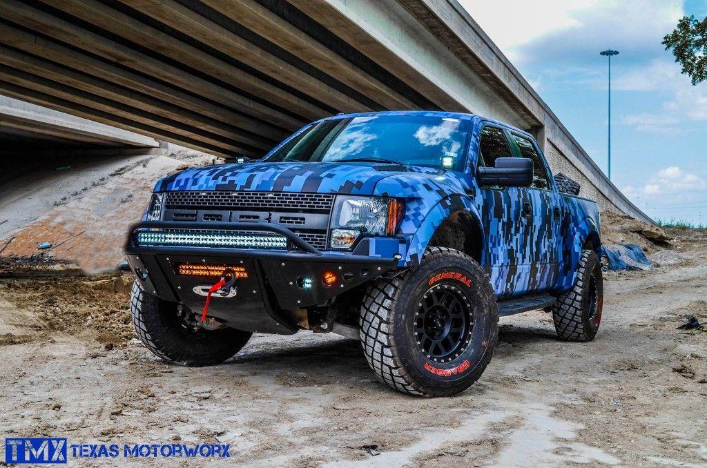 Ford Raptor Blue Digital Camo By Texas Motorworx Ford Raptor Raptor Truck Trucks