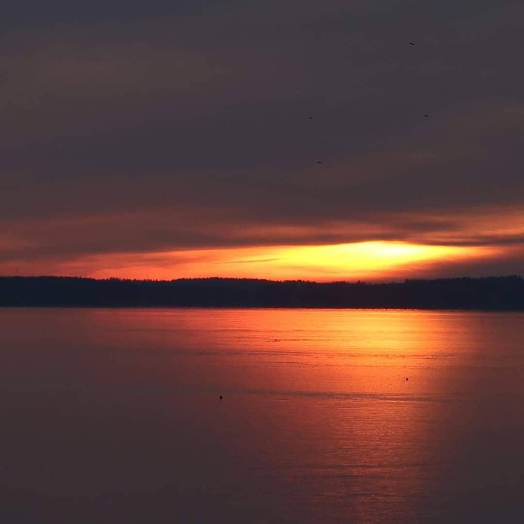 """Johanna Jussila on Instagram: """"Vuoden viimeinen viikonloppu 🧡💙🧡💙🧡💙#säkylänpyhäjärvi#pyhäjärviseutu#sunset…"""""""