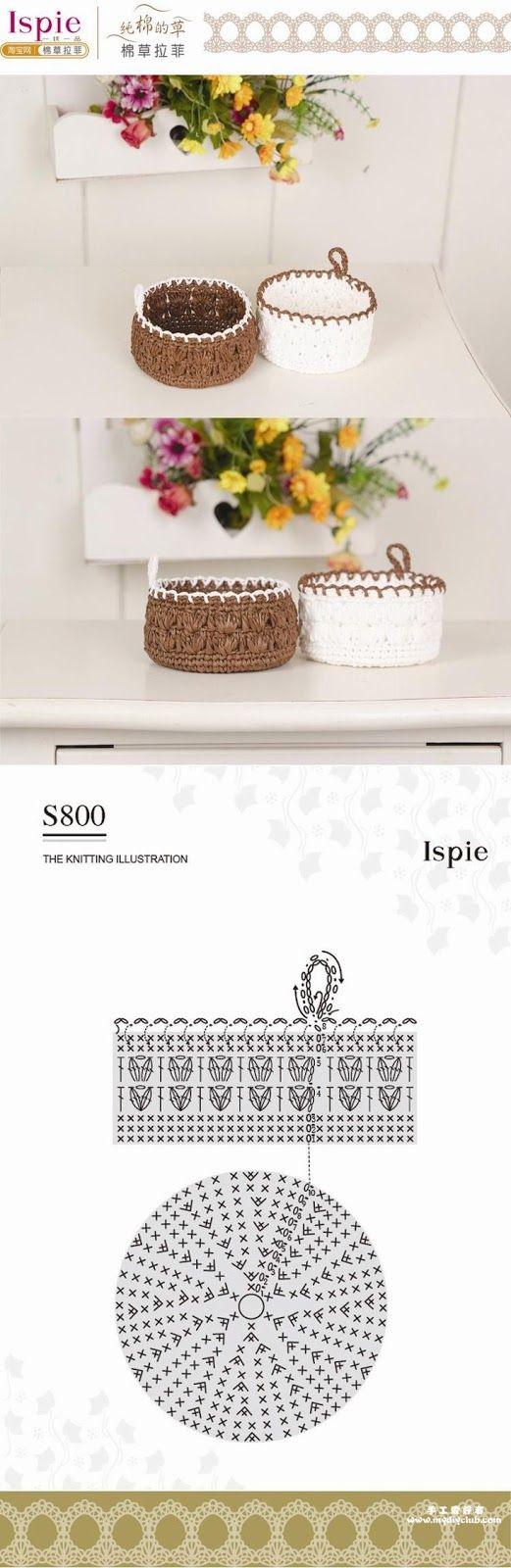 Crochet Basket - Chart ❥ 4U // hf | crochet | Pinterest | Crochet ...