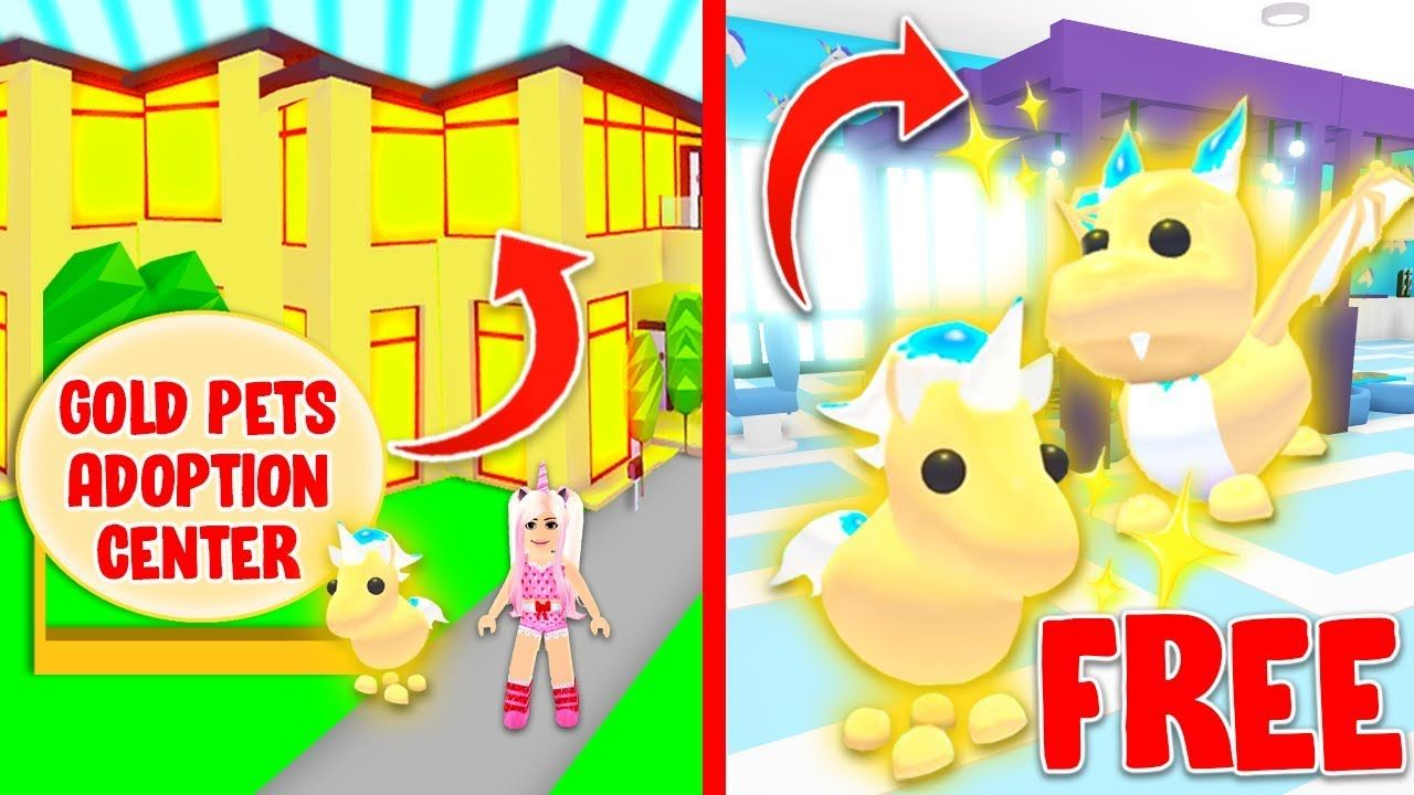 New Free Golden Pets Adoption Center In Adopt Me Roblox In 2020