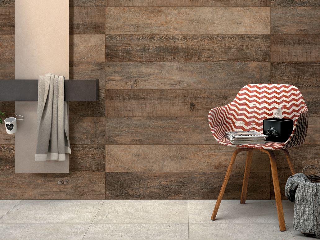 Wandtegel badkamer houtlook - Wandbekleding tegels | Pinterest ...