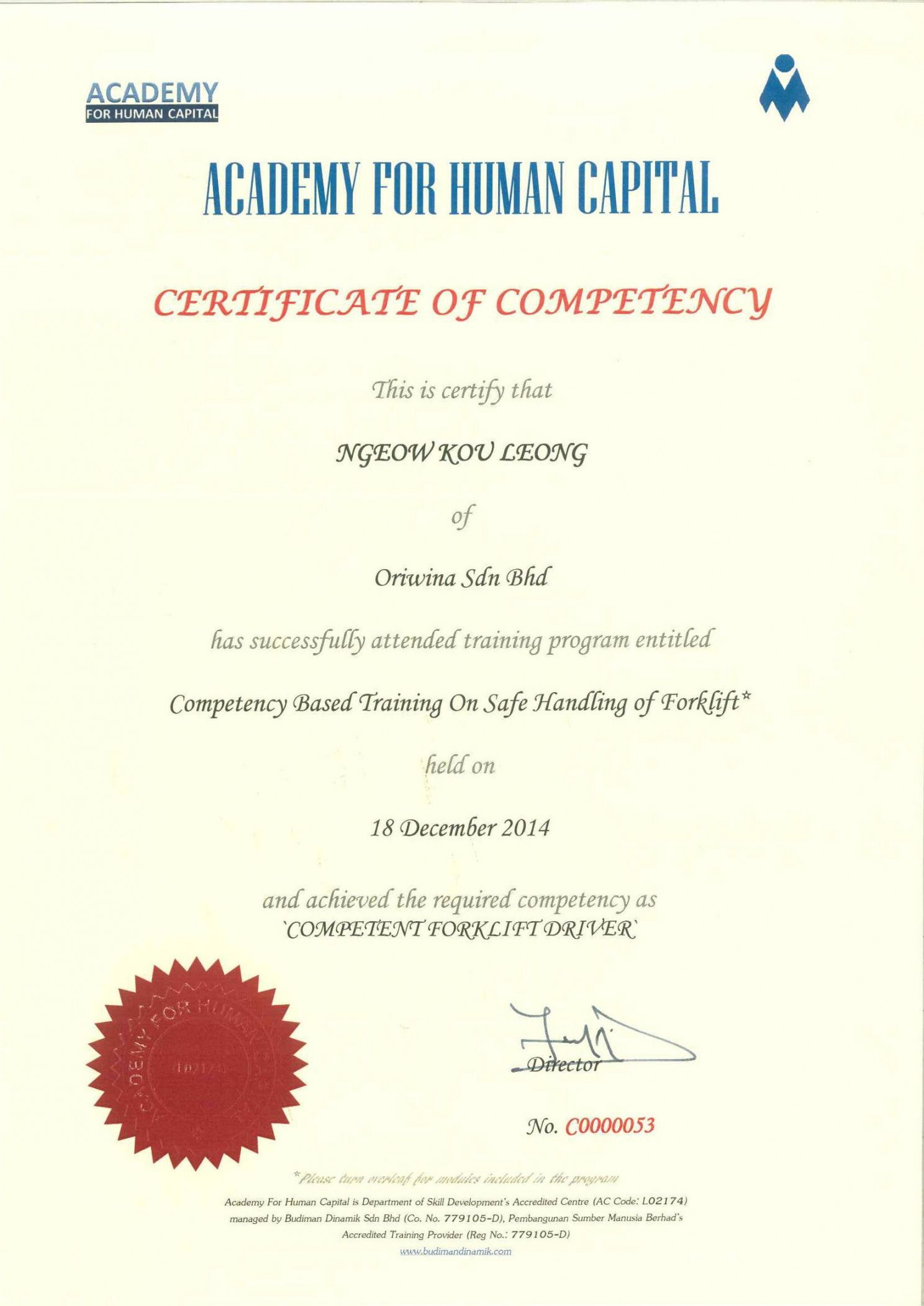 Get Our Free Forklift Safety Training Certificate Template