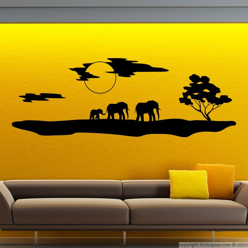 This African silhouette with elephants #sticker will bring feelings ...