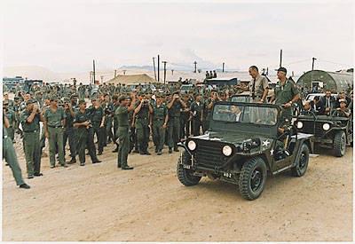 President Johnson in Vietnam