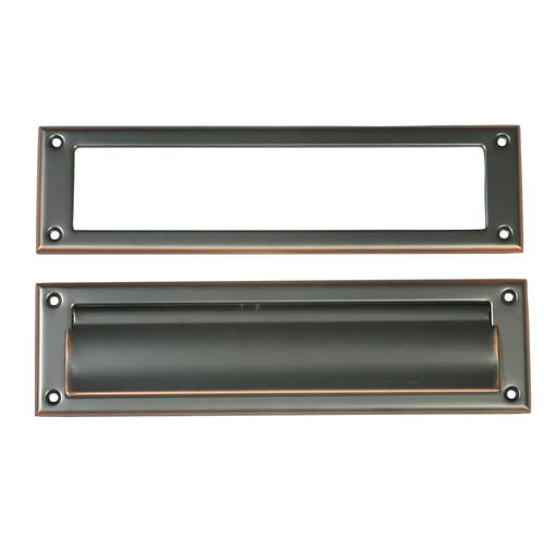 Steel Mail Slot in Rubbed Bronze Finish at Menards