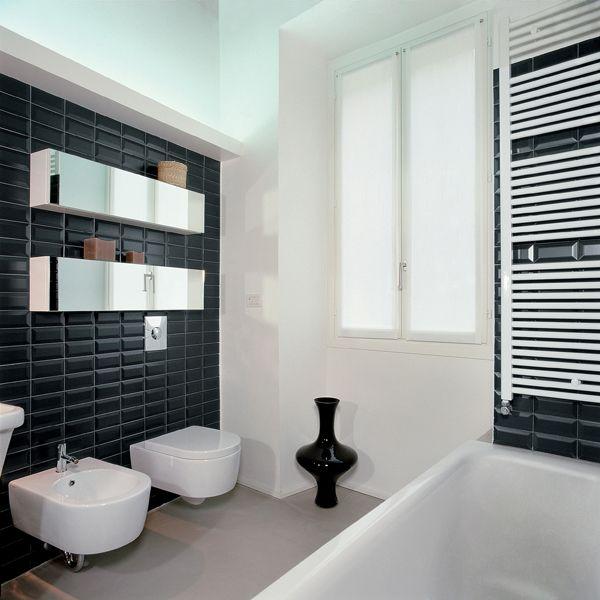 Nc222358 Black Mirror Bevel Gloss Subway Wall Tiles Brisbane Modern Bathroom Tile Bathroom Tile Inspiration Bathroom Tile Designs