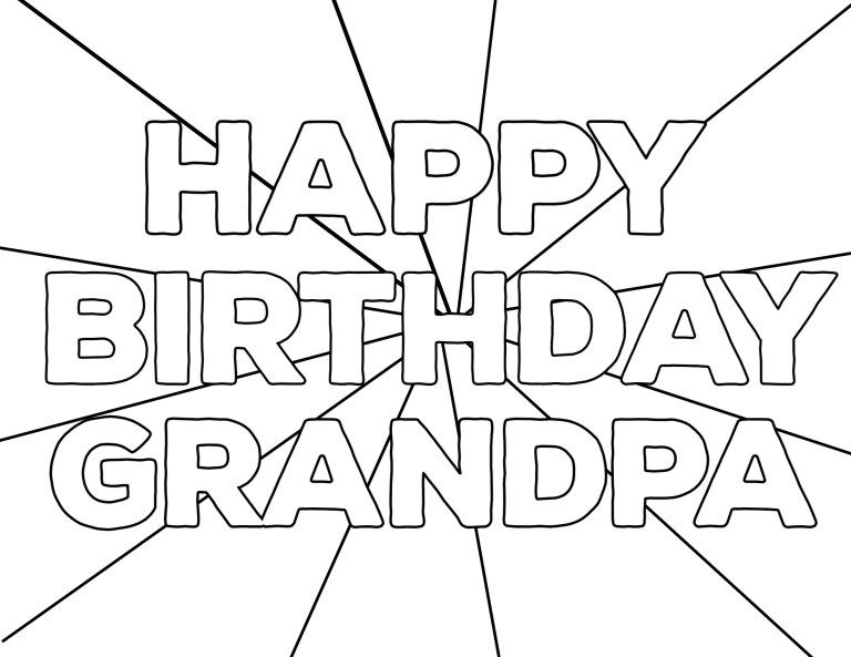 Free Printable Happy Birthday Coloring Pages Paper Trail Design Happy Birthday Coloring Pages Birthday Coloring Pages Happy Birthday Grandpa