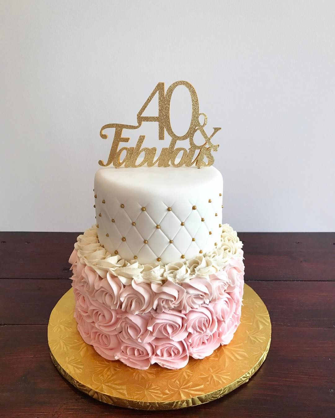 Phenomenal 40 And Fabulous Birthday Cake Pretty Birthday Cakes Elegant Personalised Birthday Cards Cominlily Jamesorg