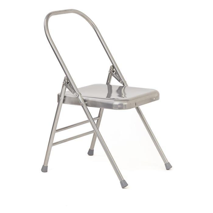 folding metal yoga chair wheelchair knob iyengar backless