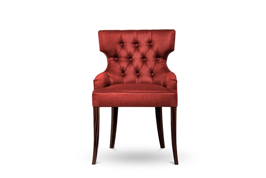 Wood, velvet, metals and brass are few of the materials that are present within this selection of chair designs. We particularly enjoy the intensity that is present within the choice of colors and aesthetics.