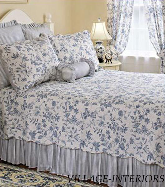 SALE! BRIGHTON FRENCH COUNTRY BLUE & WHITE TOILE CAL K