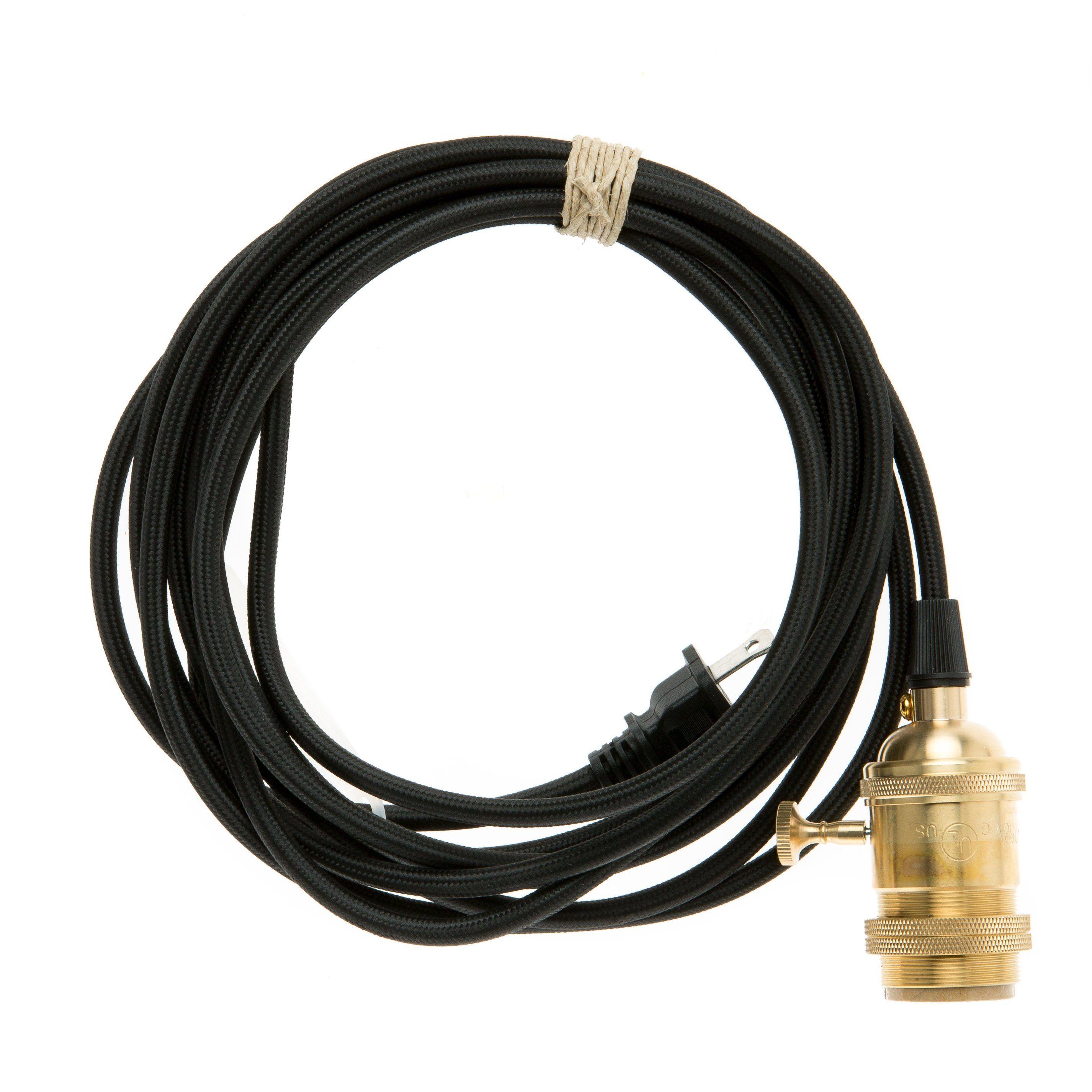 lucas retro pendant light blue a7500. Brass Plug-In Pendant Light Cord Set Lucas Retro Blue A7500